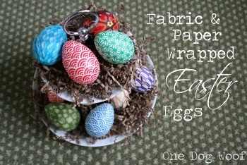 Fabric & Paper Wrapped Easter Eggs