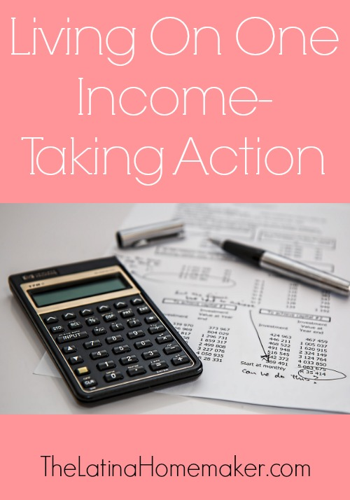 Living On One Income-Taking Action