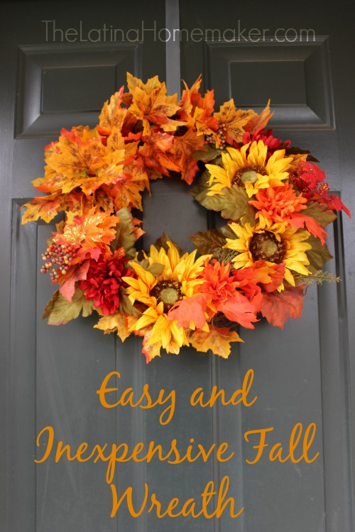 Easy and Inexpensive Fall Wreath: This DIY fall wreath is super easy to make and cost very little!