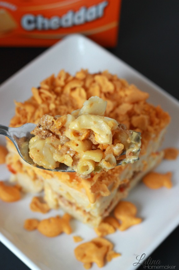 Macaroni and Cheese Fiesta. A twist to the traditional baked macaroni ...