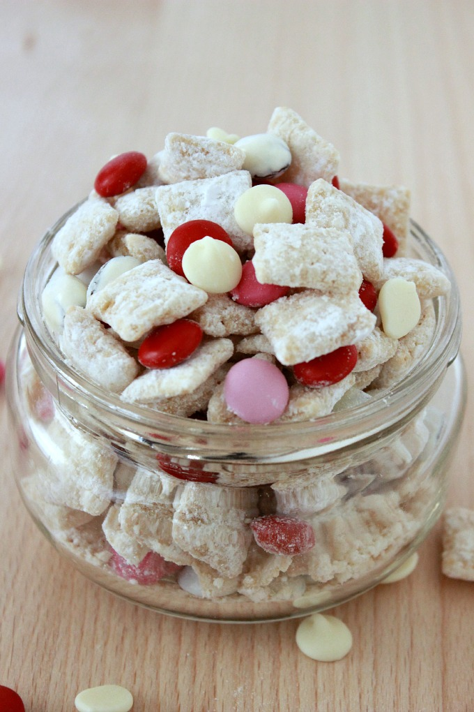 White Chocolate Muddy Buddies-A combination of white chocolate and ...