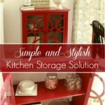 A Simple and Stylish Kitchen Storage Solution. Check out how I added storage to my small kitchen without sacrificing style or space.