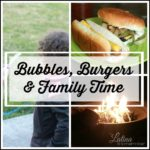 Bubbles, Burgers and Family Time. A look at our family's first time using the patio this year!