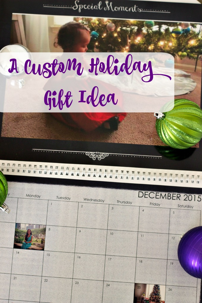 A Custom Holiday Gift Idea + $50 Snapfish Giveaway! A custom wall calendar makes a great Christmas gift for family and friends.
