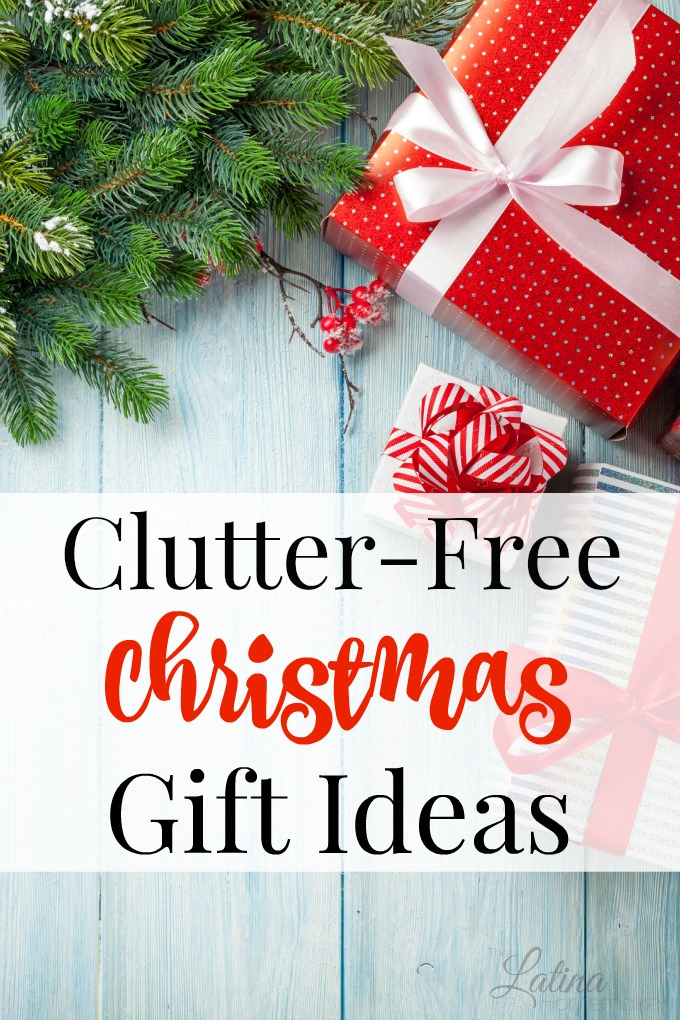 Clutter-Free Christmas Gift Ideas-A list of clutter-free gift ideas for everyone. If you loathe clutter, or at least prefer to keep it to a minimum, you might want to consider sharing this list with your loved ones!