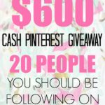 Spring Pinterest Cash Giveaway!