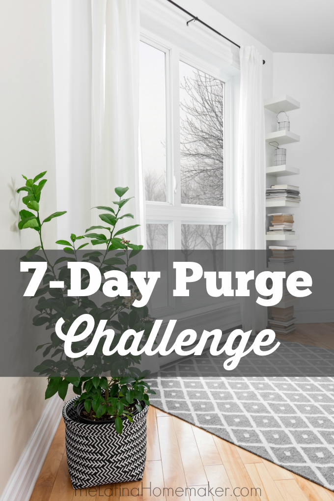 7-Day Purge Challenge {Day 3-Bathroom}. A seven day purging challenge to help you free up space in your home and embrace a clutter free life.