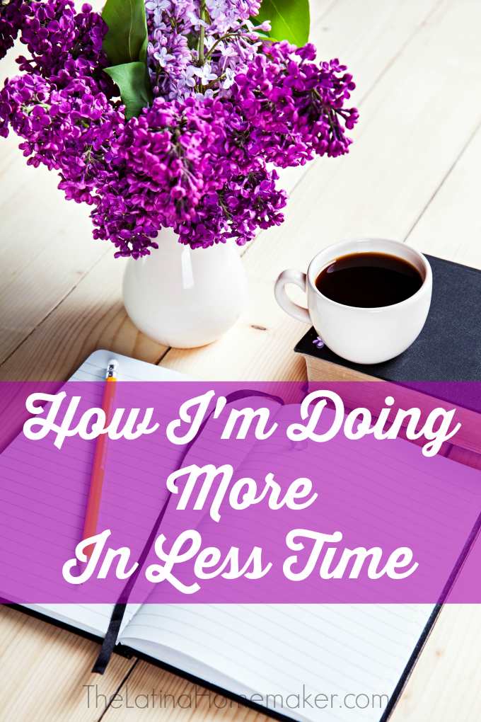 How I'm Doing More In Less Time. As moms, we are often juggling many roles, and it's very hard to keep up without getting burned out. These simple steps have helped me juggle a home, and an online business wihtout losing my sanity.