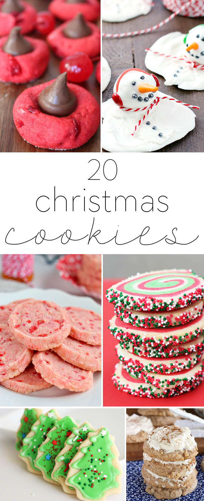 20 Christmas Cookies. A delicious roundup of 20 Christmas cookies that can be enjoyed with family and friends. From snickerdoodles to sugar cookies, there's something for everyone!