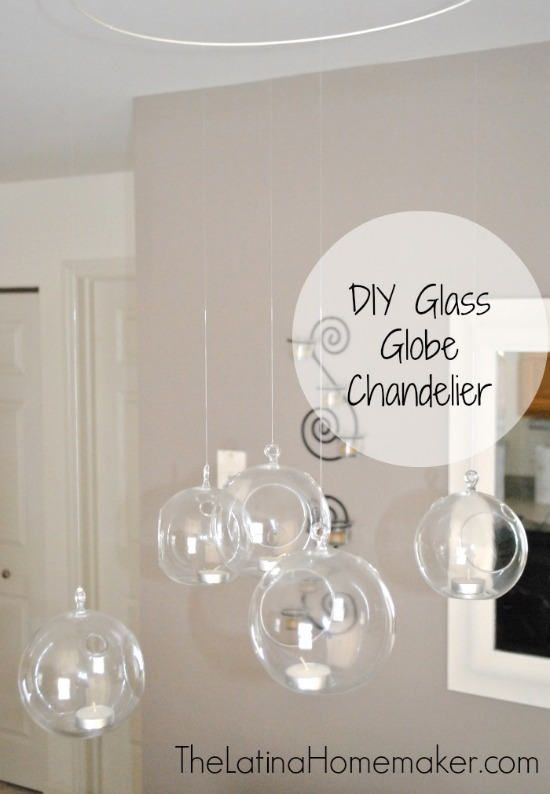 DIY Glass Globe Chandelier