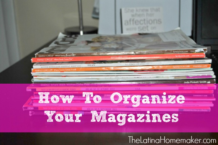 How To Organize Your Magazines