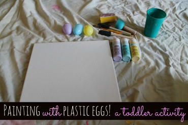 Painting With Plastic Eggs