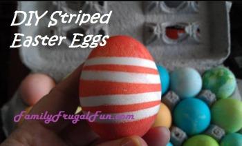 Striped Easter Egg