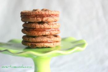 Nutella Chocolate Chip Sandwich Cookies