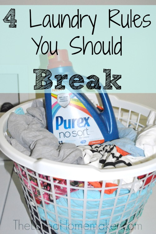 4 Laundry Rules You Should Break