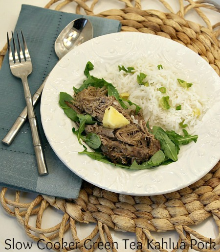 Slow Cooker Green Tea Kahlua Pork
