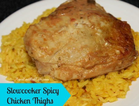 Slow Cooker Spickt  Chicken Thighs