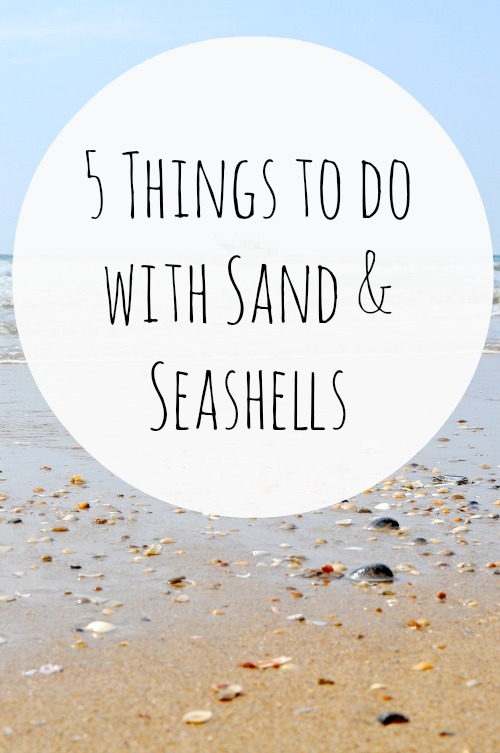 5 Things To Do With Sand And Seashells - 5 simple DIY projects you can create with beach sand and seashells.