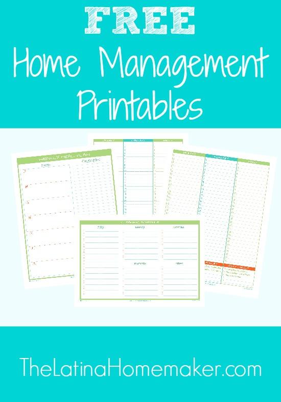 Free Home Management Printables