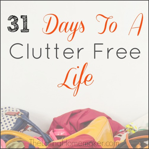 31 Days To A Clutter Free Life Day 4: Living Room