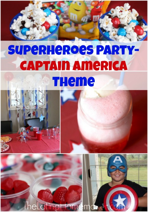 superheroes party captain america theme. Black Bedroom Furniture Sets. Home Design Ideas