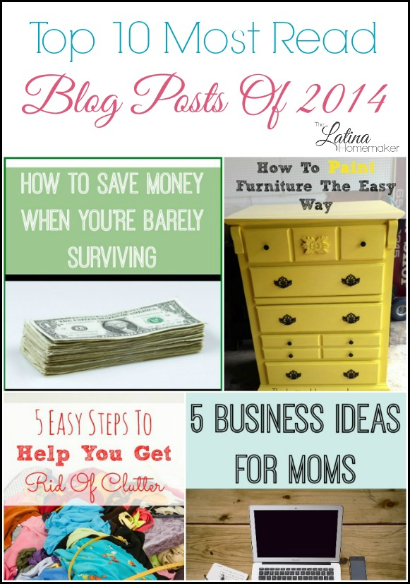 A round-up of the most read blog posts of 2014. From frugal living tips to homemaking advice, check out what the readers enjoyed this past year!