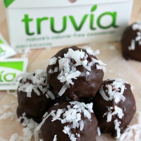 Dark Chocolate Coconut Truffles