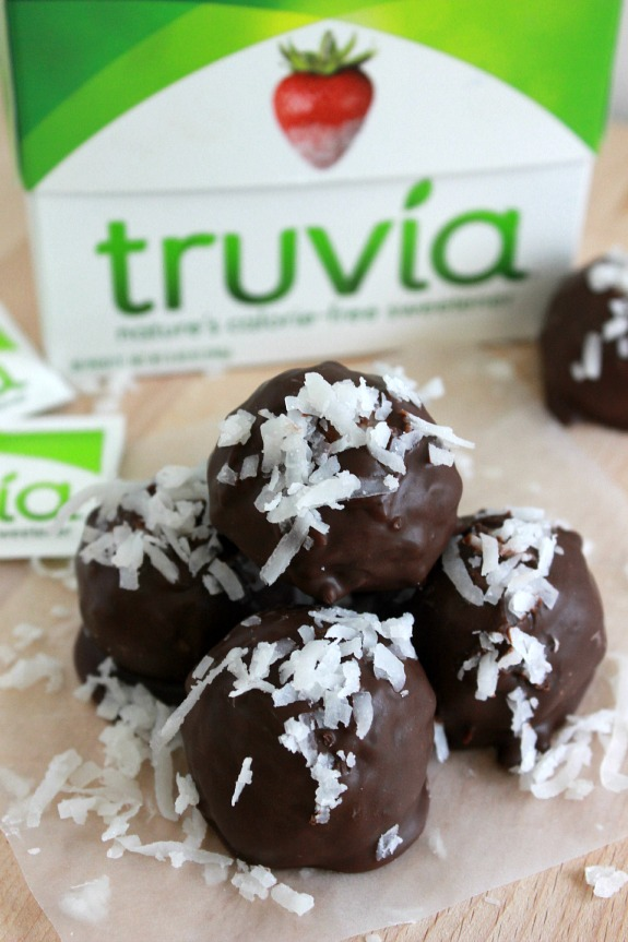 Dark Chocolate Coconut Truffles
