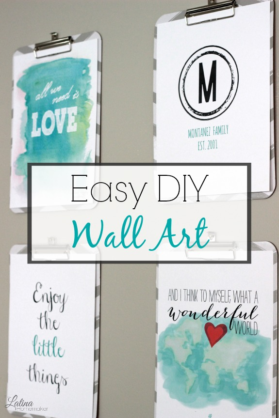 easy and inexpensive diy wall art