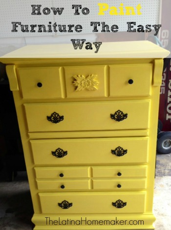 How To Paint Furniture The Easy Way Post