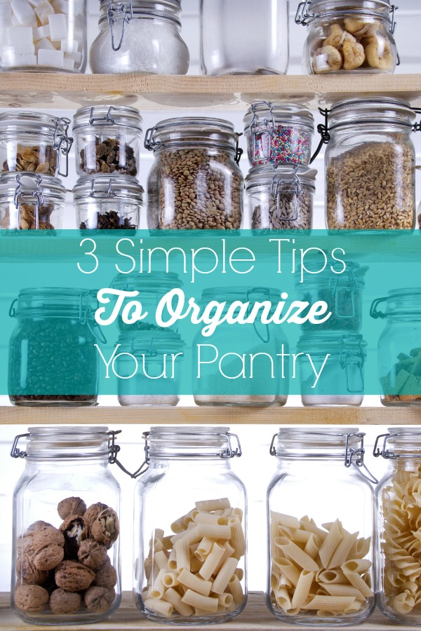 3 Simple Tips To Organize Your Pantry. Follow these 3 simple tips to help you get your kitchen pantry back into an organized & functional space you can use.