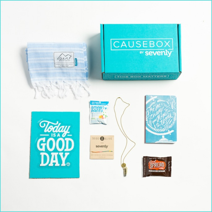 CAUSEBOX-A Box That Matters. A look at the CAUSEBOX by Sevenly, what it includes, and how it gives back to organizations that are making a difference.