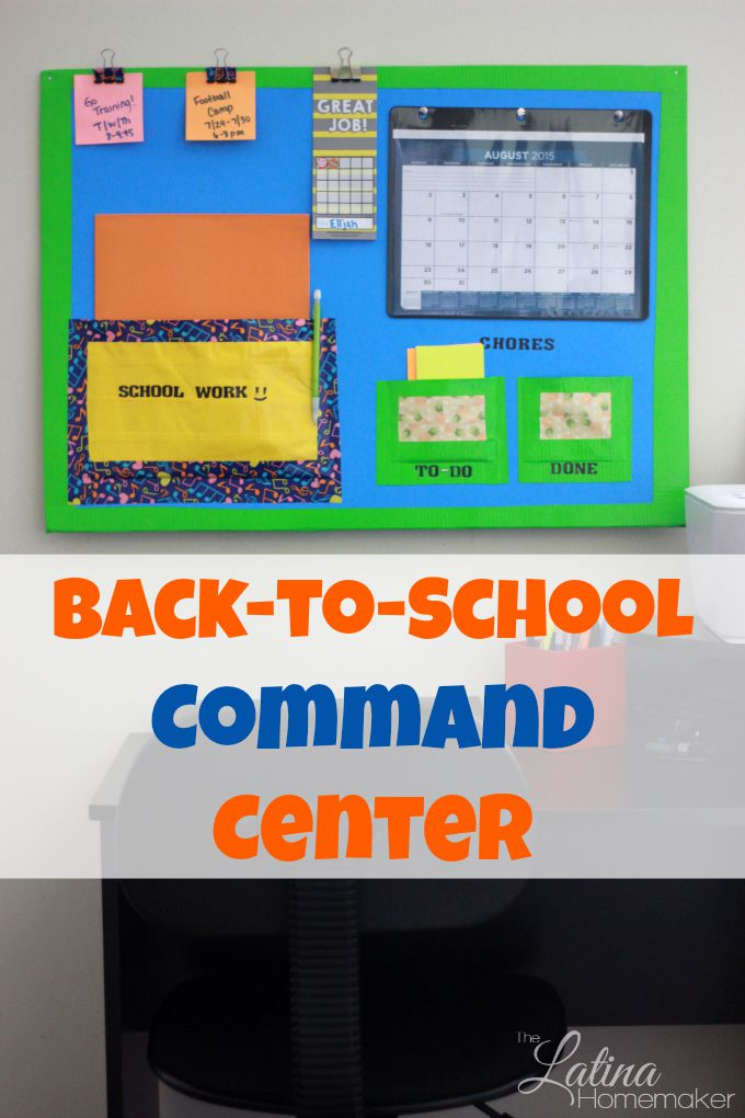 Back-To-School Command Center. This easy to make and inexpensive Back-To-School Command Center is a great way to keep your kids organized during the school year!