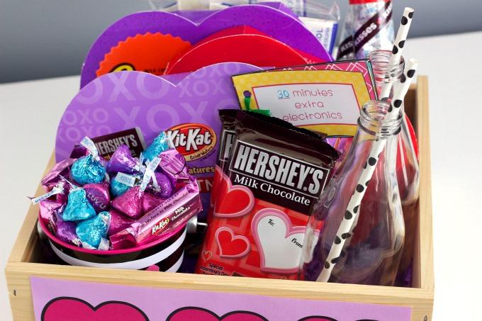 valentine's day family basket, Ideas