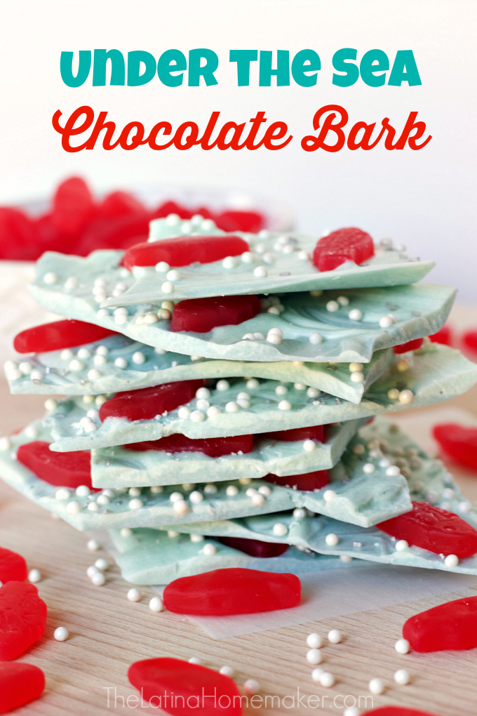 Under the Sea Chocolate Bark-STEM learning can happen at home, and this recipe is one example. Check out this fun and educational activity that your kids will enjoy!