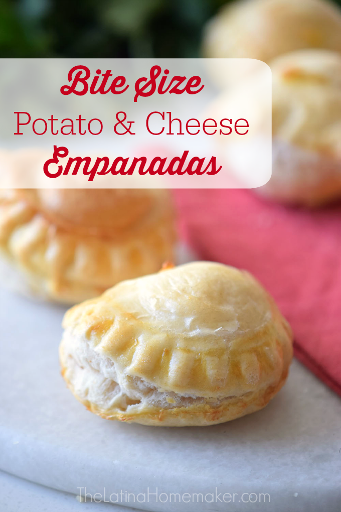 Bite Size Potato and Cheese Empanadas are the perfect party food! Easy to make and so delicious everyone will rave about them.
