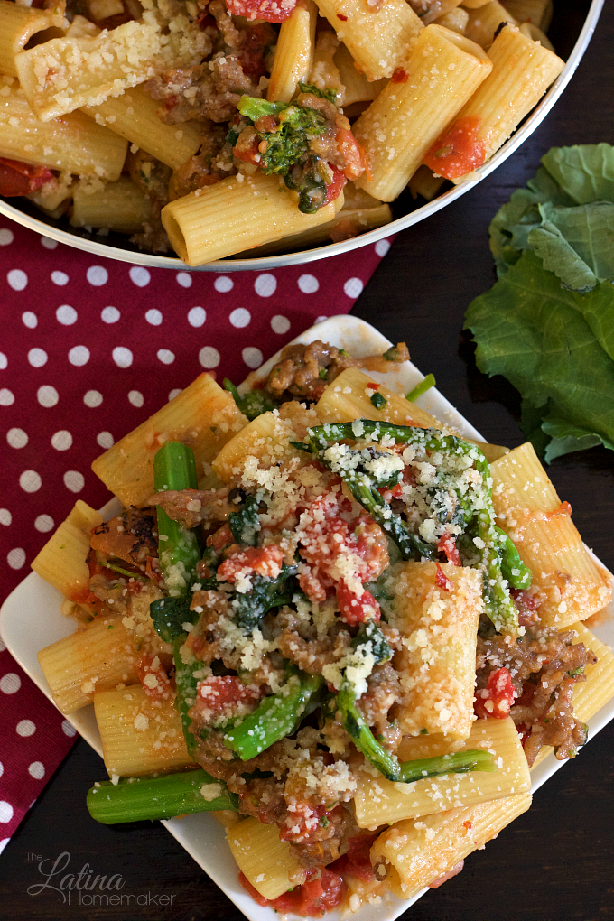 Rigatoni with Sausage and Broccoli Rabe-A delicious pasta dish made with fresh ingredients and packed with flavor.