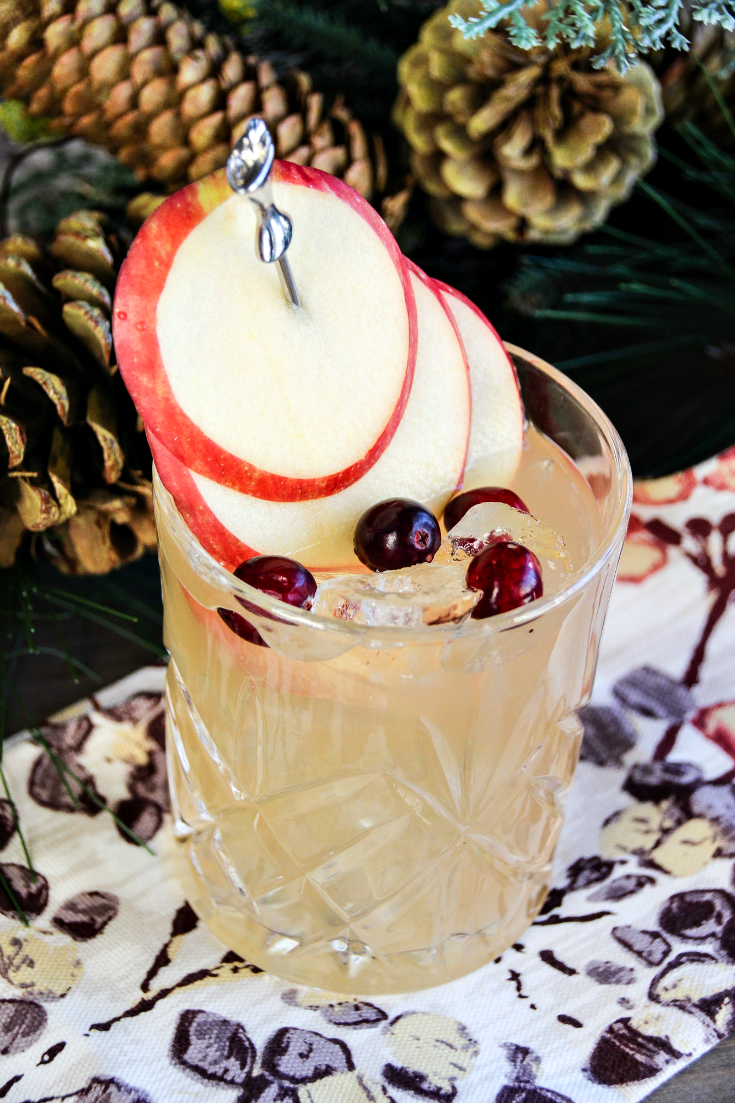 Apple Rhubarb Mocktail. A delicious mocktail that will be a hit at holiday gatherings and beyond!
