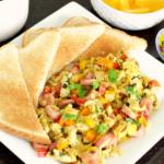 Huevos Revuelto con Salchicha {Scrambled Eggs Puerto Rican Style}