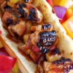 Pineapple BBQ Grilled Chicken Kabob Sandwiches