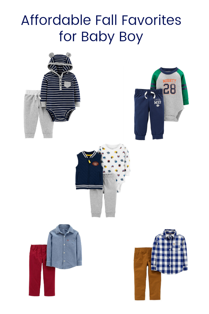 Affordable Fall Favorites for Baby Boy – These Carter's outfits will keep your baby boy comfy and stylish all season long!