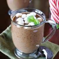 Peppermint Hot Chocolate {Made with Peppermint Patties}